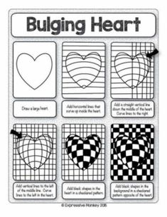 Optical Illusion Quilts, Art Optical, Optical Illusions, Illusion Kunst, Illusion Art, Op Art Lessons, Art Lessons Elementary, Art Worksheets, Valentines Art