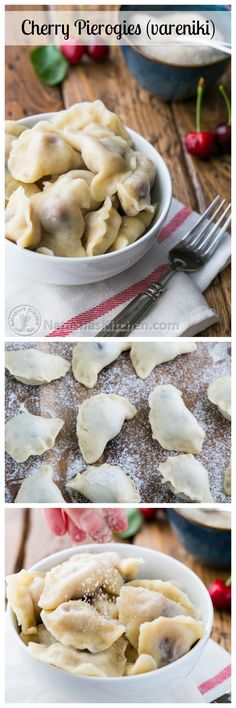 These Cherry Pierogies are the ultimate in comfort food. Use fresh or frozen cherries! @natashaskitchen