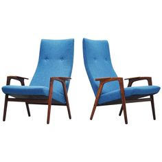 Yngve Ekstrom Ruster chairs High back Pastoe 1960 | From a unique collection of antique and modern armchairs at http://www.1stdibs.com/furniture/seating/armchairs/
