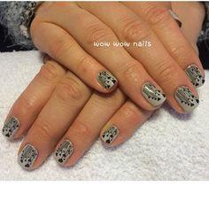 Karl's nail design! #nails #naildesign #hearts #vday #nailsdid #notd #nailart #heartnails #shellac #cityscape #mushroomhearts #beauty #fashion #trend #prettynails #cutenails #wowwownails #toronto