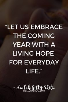 "Let go of this year and look forward to the new year. ""Let us embrace the coming year with a living hope for everyday life"" – Lailah Gifty Akita. Celebrate the end of 2020, with 52 Inspirational End of Year Quotes and Sayings. Move forward into 2021, with these short motivational, happy new year quotes and encouragement to make it the best year yet. #NewYears #2020Goals #NewYearsEve #NewYearsGoals #NewYearNewYou #NewYears2020 #QuotesToLiveBy #QuotesToRemember #InspirationalQuotes End Of Year Quotes, Ending Quotes, Happy New Year Quotes, Quotes About New Year, Health Words, Mental Health Quotes, Positive Quotes, Motivational Quotes, Inspirational Quotes"