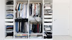 17 tips on how to organize your closet and store everything you don't need anymore.