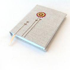 Handmade embrodered notebook
