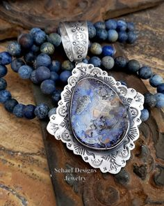 @schaefdesigns Beautiful blue boulder opal & handstamped southwestern pendant by Schaef Designs jewelry online Southwestern Jewelry, Native American Jewelry, Turquoise Jewelry, Hand Stamped, Opal, Gemstone Rings, Jewelry Design, Pearls, Pendant