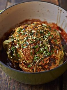 Wednesday Recipe: Whole Roasted Cauliflower. Check out more nutrition tips and healthy recipes at Kincardine FBBC #kincardinefbbc #fbbc4life #unstoppable