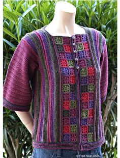 Flower Garden Cardigan - Crochet Pattern pdf - Intermediate