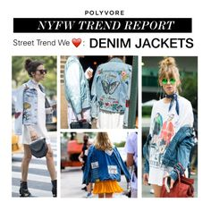"""NYFW Trend Report: Denim Jackets"" by polyvore-editorial ❤ liked on Polyvore featuring NYFW, denimjackets and pvnyfw"