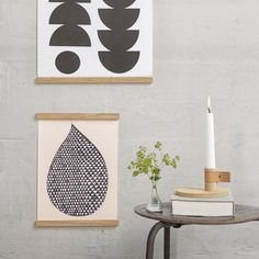 Minimalist and contemporary wooden frames suitable for posters and wall art. Danish designer By Wirth.The frame consists of four simple magnetic fixings which provide an invisible mount to your wall.