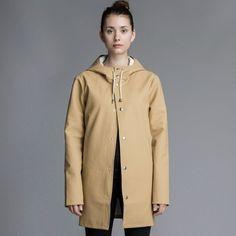 Shop the Stutterheim Stockholm raincoat in Sand. Raincoats For Women, Rain Wear, Waterproof Boots, Spring Summer 2015, Refashion, The Row, Rain Jacket, My Style