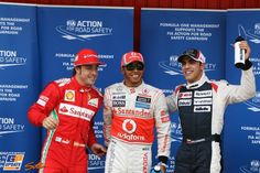 TOP 3 of saturday's qualification @ Spanish Grand Prix 12th May 2012