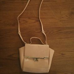 Nasty Gal Purse Peach shoulder/crossbody bag with gold hardware Nasty Gal Bags Shoulder Bags