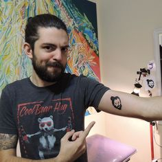 On instagram by liveandletsleep #8bits #microhobbit (o) http://ift.tt/1X8DIrL te voy a llevar conmigo Fran  #tattoo #pixel #pixelart