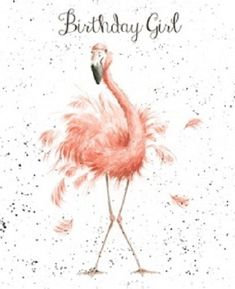 Wrendale Designs Happy Birthday Greeting Card NEW Flamingo Birthday girl   Home, Furniture & DIY, Celebrations & Occasions, Cards & Stationery   eBay!