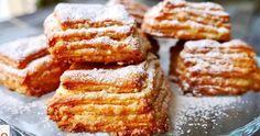 Vynikajúci recept na krehké a rýchle maslové koláčiky. Kefir, Napoleon, Red Velvet Brownies, Cookies And Cream, French Toast, Food And Drink, Breakfast, Recipes, Beautiful Pictures