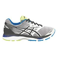 d5f3180e336 Asics Gel Cumulus 18 Mens Running Shoes Silver   Black US 7