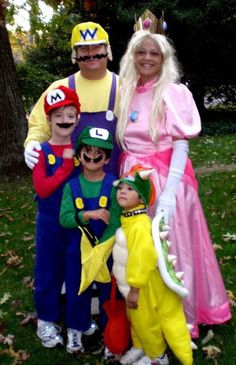 Mario Family | 32 Family Halloween Costumes That Will Make You Want To Have Kids