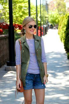 Weekend Wear | vest & shorts
