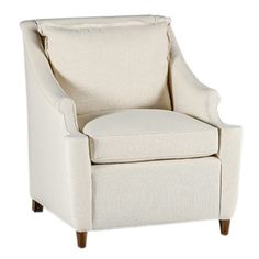 """From the Gabby Tailored Collection of Custom Upholstery, the Theo transitional upholstered chair features tastefully rolled arms and back cushion with our flange welt. Standard Leg Finish: Walnut; Not  , including Sunbrell® worry free fabrics."""" candelabra"""