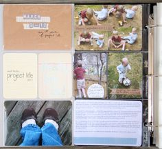 This is such a fun scrapbook/journal idea!