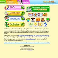Starfall, a free site that uses phonics to teach reading to children from preschool to second grade. Teaching The Alphabet, Teaching Reading, Teaching Kids, Kids Learning, Autism Education, Elementary Education, Special Education, Homeschool Kindergarten, Preschool