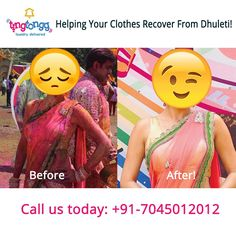 We can  resurrect your favorite clothes from the #Holi #aftermath!  Call: +917045012012 or #Download an #App: https://play.google.com/store/apps/details?id=com.ting.tongg&hl=en