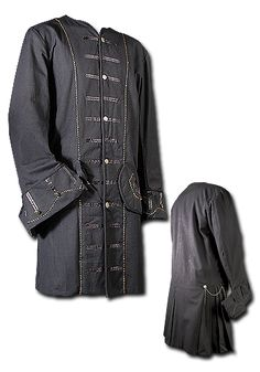 Frock Coat The knee-long Frock Coat is an appropriate garment for gentlemen and pirates. It is made of heavy, robust cotton. Golden cords decorate the frock coat along the button facing, the sleeve-cuffs and at the pocket flacks. It...