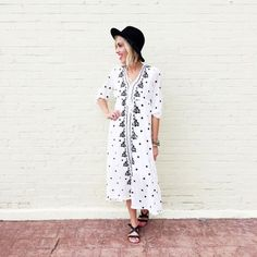 Embroidered Maxi Free people inspired maxi dress. Cream/white color. Lightweight cotton blend. Dresses Maxi