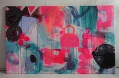 Lindberg painting with neon colors