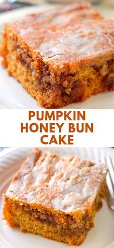 HONEY BUN CAKE Pumpkin Honey Bun Cake, an easy cake that uses a box cake mix and delivers the perfect taste of Fall. Pumpkin Honey Bun Cake, an easy cake that uses a box cake mix and delivers the perfect taste of Fall. Cake Mix Recipes, Baking Recipes, Baking Pan, Köstliche Desserts, Delicious Desserts, Health Desserts, Pastas Recipes, Recipies, Honey Buns