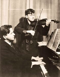 Georges Enesco and Yehudi Menuhin, ca 1932 -ndchagalov from Discographies Folk Music, My Music, Hungarian Dance, Classical Music Composers, Music Express, Mystery Of History, People Of Interest, Motivational Words, Opera