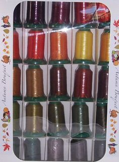 Poly X 40 Embroidery Machine Thread 25 Spool Autumn Colors Set - http://www.sewingmachinereveiws.com/poly-x-40-embroidery-machine-thread-25-spool-autumn-colors-set/