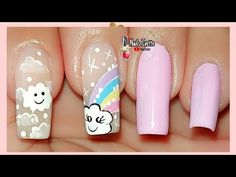 Decoración de uñas nubes y arcoíris / uñas de modas 2020 / uñas decoradas en tendencia con nubes - YouTube Diy Nails, Coffin Nails, Pedicure, Cool, Beauty, Youtube, Patio, Products, Simple Toe Nails