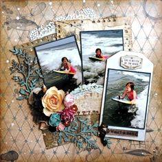 Swirlydoos Scrapbook Kits: Layout of the week 8/31/14 *Peggy*