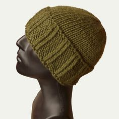 Cuffed beanie men, knit hat men, fisherman hat (70% Baby Alpaca/20% Cashmere/10% Silk)