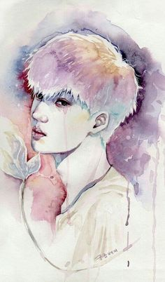 EXO Fanart Kai--- this is really cool but also really sad because it looks like he is crying. Kpop Fanart, 2ne1, Art Sketches, Art Drawings, Kpop Drawings, Got7, Exo Anime, Anime Chibi, Chanyeol Baekhyun