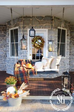 FALL ON THE BACK PORCH AND PORCH LINK PARTY! - StoneGable