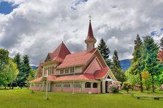 Capilla de Villa Garcia, Cunco, región de la Araucania en Chile.....