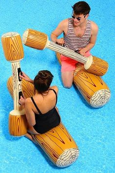 This is what I tried to do with my friend on pool noodles XD