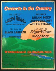 Leon Russell, Uriah Heep, Edgar Winter 1972