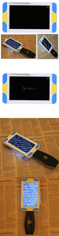 Low Vision Magnifiers Portable Digital Lcd 5 Color Electronic Magnifier Pocket Reading Aid