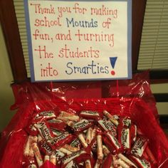 Teacher appreciation week idea