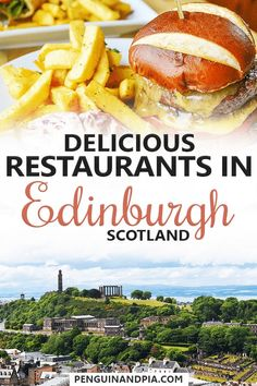The Best Places to Eat in Edinburgh Looking for great food places in Edinburgh, Scotland? In our guide, we walk you through where to eat breakfast, brunch, lunch and dinner in the Scottish capital! Scotland Food, Edinburgh Scotland, Scotland Vacation, Scotland Travel, Scotland Trip, Ireland Travel, Food Places, Best Places To Eat, Scottish Dishes