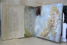 earth-frond - brigette guerzon mills Artist Journal, Artist Sketchbook, Art Journal Pages, Collages, Best Book Covers, Mixed Media Journal, Thing 1, Handmade Books, Mixed Media Artists