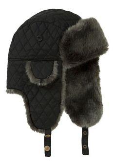 e10d51cdf739e Tesco F Quilted faux fur trapper hat