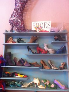 """""""Just the Right Shoe"""" collection of miniature shoes."""