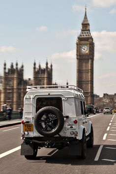 My dream car in one of my favorite locations. Two British greats - Defender in the foreground of Big Ben.
