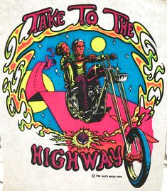 Take to the Highway 1975 The Rat's Hole Vintage Iron On Heat Transfer by VintageIronOn on Etsy Vintage Iron, Vintage Shirts, Best Iron, Iron On Fabric, Cool Vans, Vintage Patches, Motorcycle Art, Digital Collage, Heat Transfer