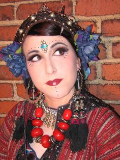 Tribal hair and makeup - Maral of ATS bellydance troupe Shades of Araby.