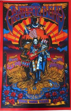 Grateful Dead Fare Thee Well Official Poster. Rock Posters, Band Posters, Concert Posters, Music Posters, Grateful Dead Image, Grateful Dead Poster, Mad Men Poster, Dead And Company, Psychedelic Rock