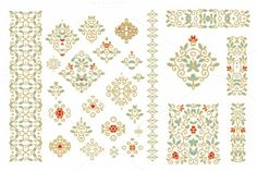 Set of ornamental forms by Dainia on Creative Market